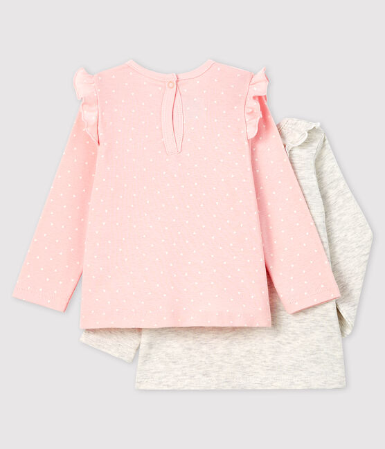 Pack of 2 baby girl's blouses . set