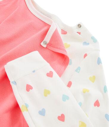 Girls' Fancy Dress Jumpsuit Marshmallow white / Multico white