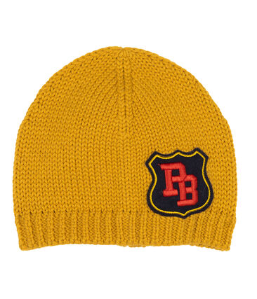 Boys' Woolly Hat Boudor yellow