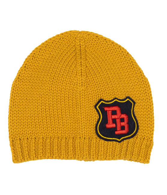 Boys' Woolly Hat Boudor yellow