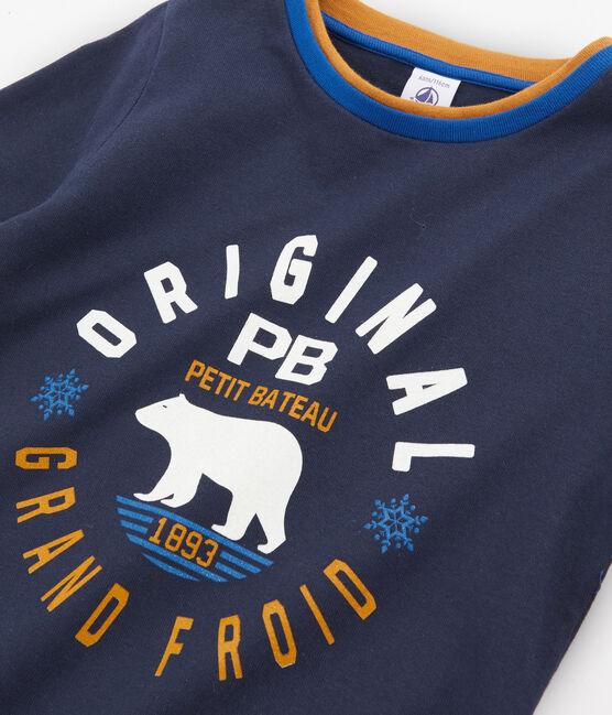 Boys' Long-sleeved T-Shirt Smoking blue