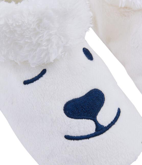 Unisex Fleece Bootees Marshmallow white