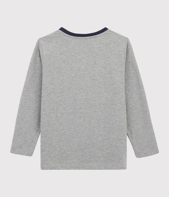 Boys Silkscreen Print T-shirt Subway grey
