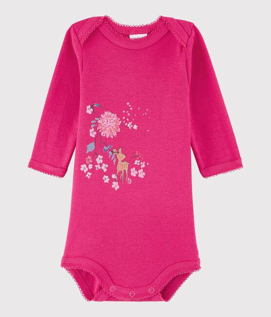 Baby Girls' Long-Sleeved Bodysuit Flashy pink