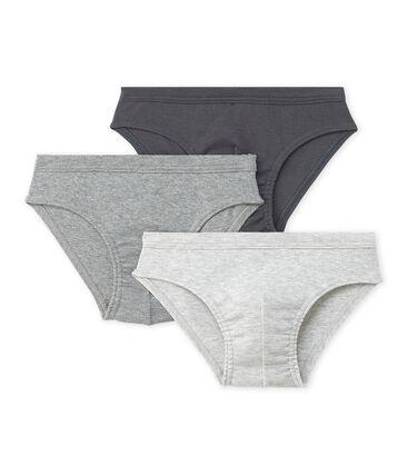 Set of 3 boy's plain briefs . set