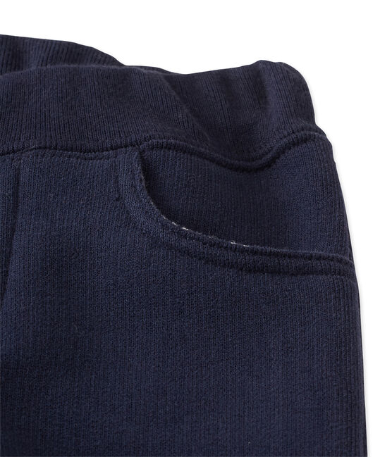 Baby boy's fleece pants Smoking blue