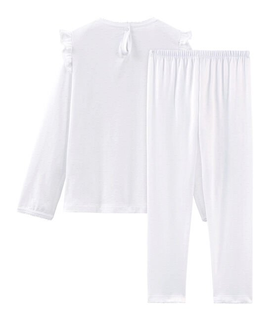 Girls' Fine Cotton Pyjamas Ecume white