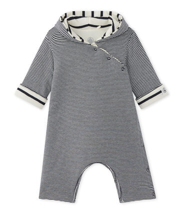 Baby milleraies-striped hooded all-in-one