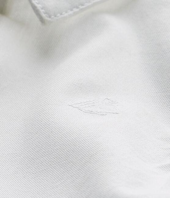 Baby boy's formal shirt Ecume white