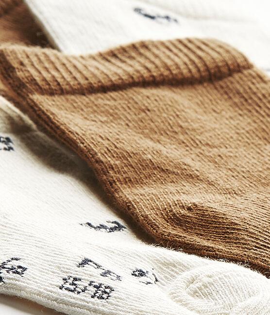 Set of 2 pairs of baby boy's socks . set