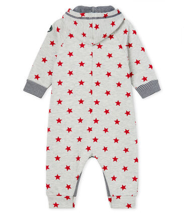 Baby Boys' Long Hooded Printed Jumpsuit