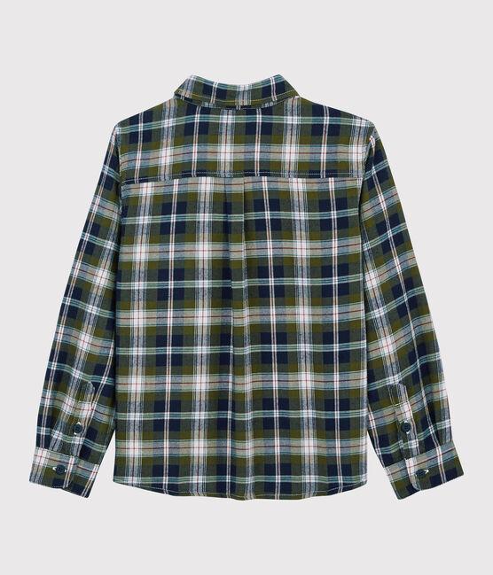 Boys' Checked Shirt Smoking blue / Multico white