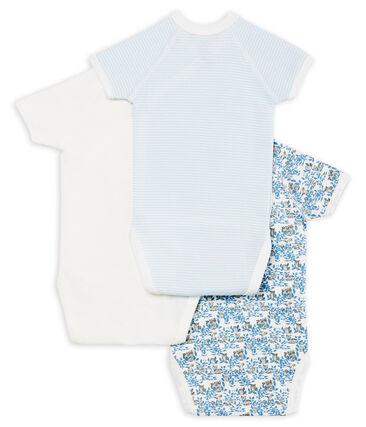Short-sleeved newborn bodysuit - Set of 3 . set