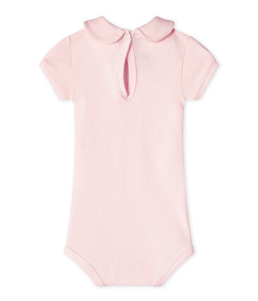 Baby girls' bodysuit with collar