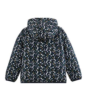 Girls' 3-in-1 Down Coat Smoking blue / Multico white