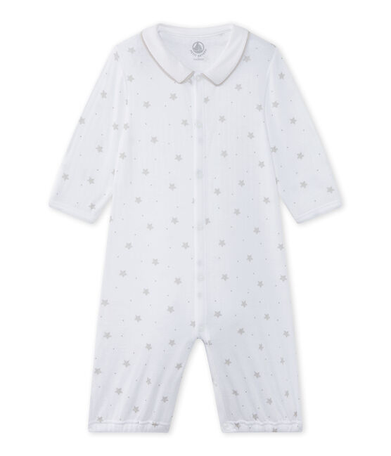 Baby's unisex 2-in-1 one-piece / sleep sack Ecume white / Shitake brown