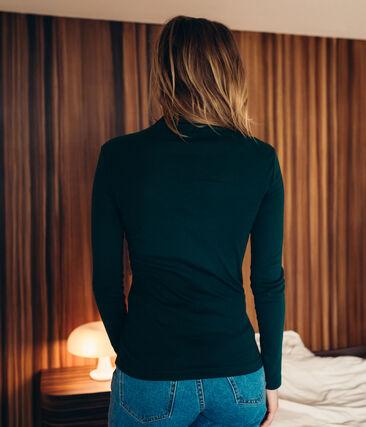 women's light cotton polo neck