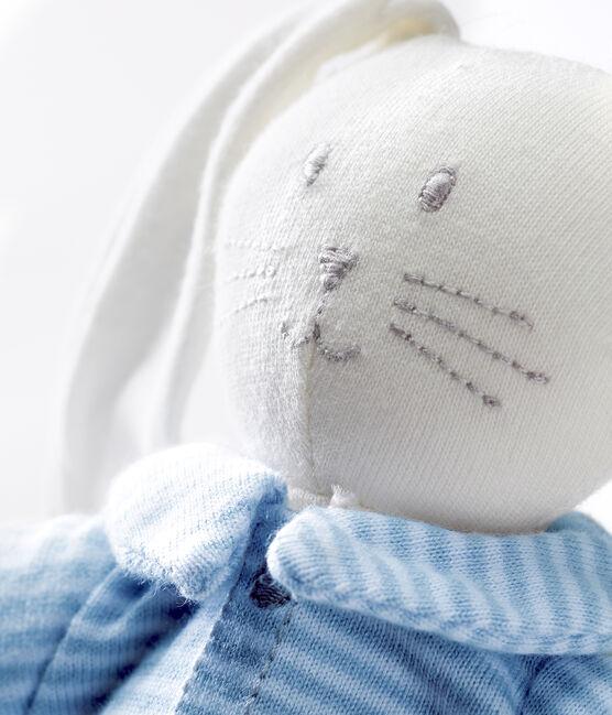 Rabbit in clothing comforter Fraicheur blue / Marshmallow white