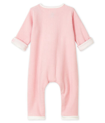 Babies' Unisex Long Pink Jumpsuit in Extra Warm Brushed Terry Joli pink