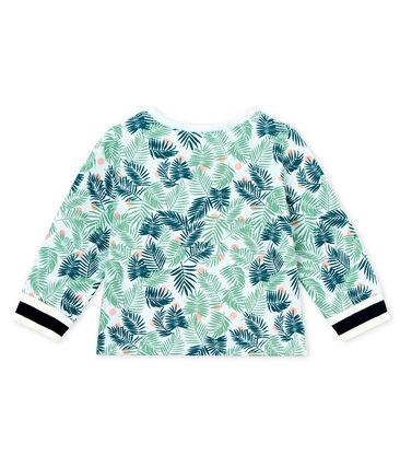 Baby girls' printed knit cardigan Bocal blue / Multico white