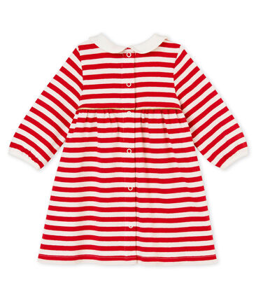 Baby girl's striped dress with collar