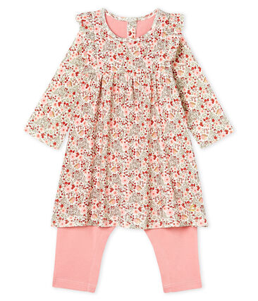 Baby Girls' Printed Dress/Leggings Marshmallow white / Multico white
