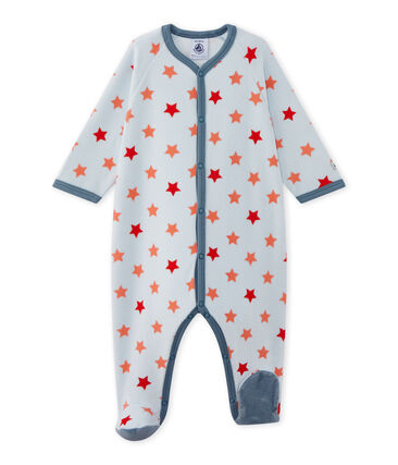 Baby boy star print sleepsuit