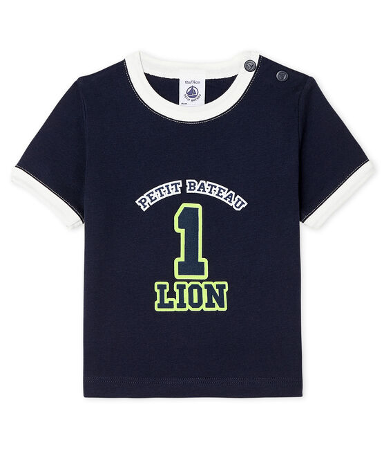 Short-sleeved T-shirt for baby boys Smoking blue