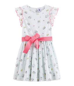 Girls' Dress Marshmallow white / Multico white