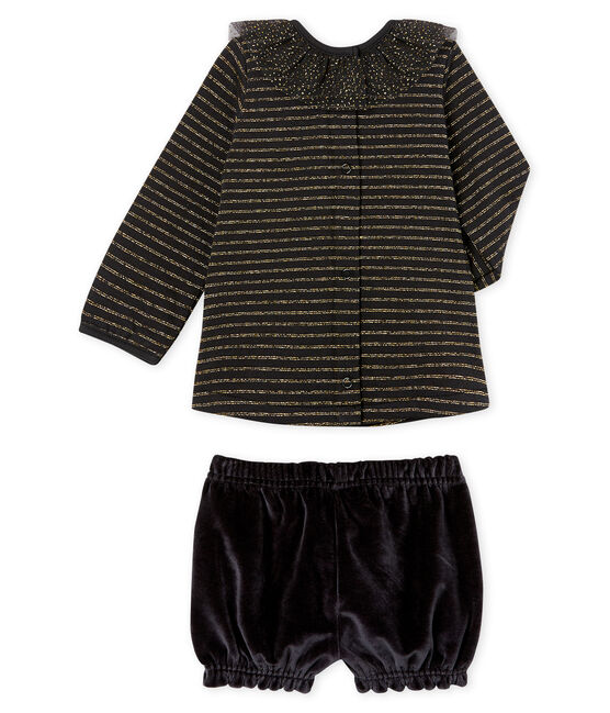 Baby Girls' Clothing - 2-Piece Set Noir black / Multico white