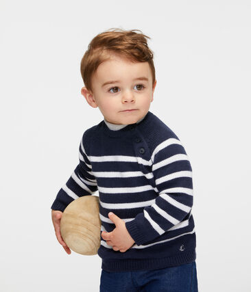 Baby Boys' Striped Wool/Cotton Pullover