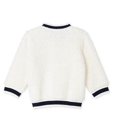 Unisex Babies' Cardigan in Sheepskin Sherpa Marshmallow white