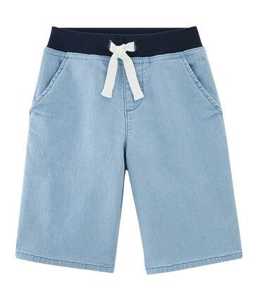 Boys' Bermuda Shorts Denim Bleu blue