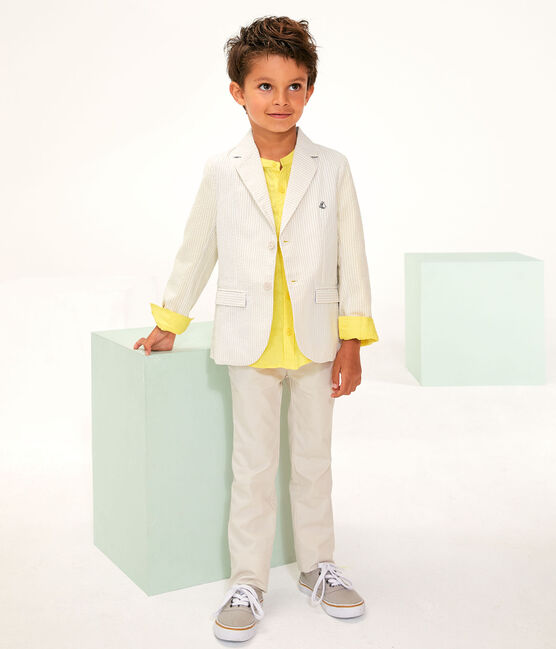 Boys' Jacket beige Beige / Marshmallow white