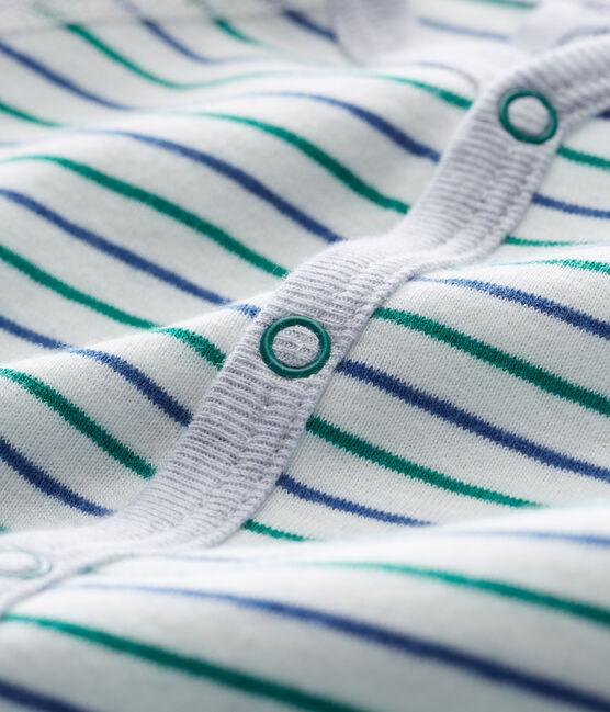 Baby Boys' Footless Sleepsuit Marshmallow white / Multico white