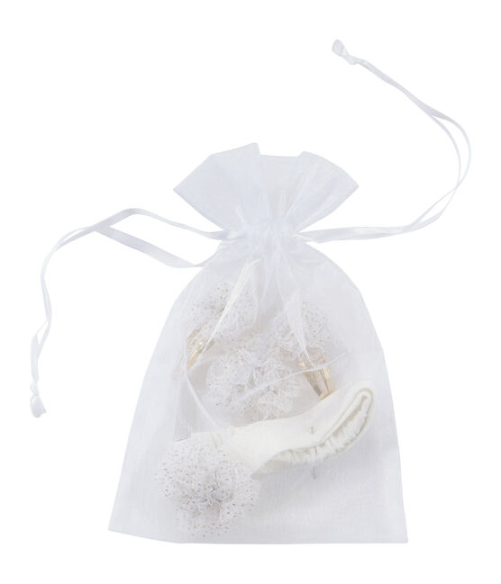 Pack of Hair Accessories Marshmallow white / Dore yellow