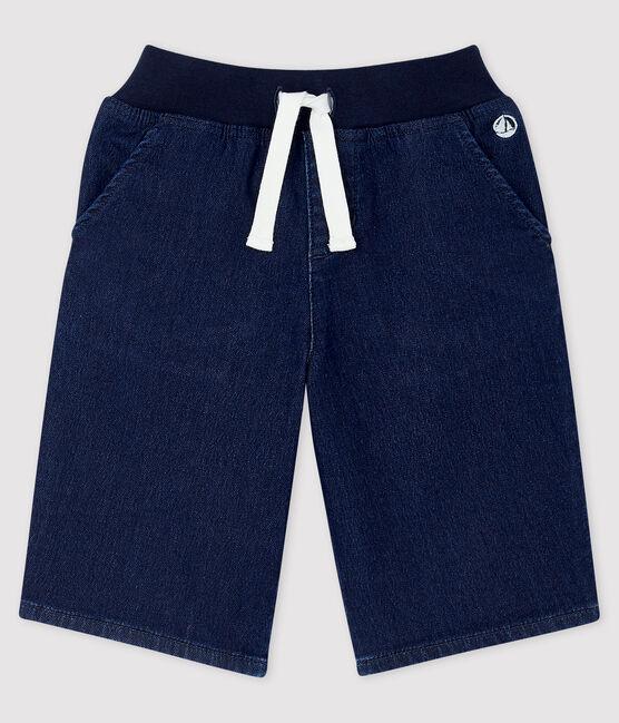 Boys' Denim Bermuda Shorts Denim Bleu Fonce blue
