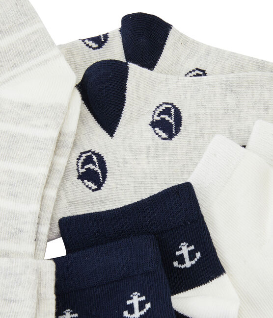 Set of 5 pairs of socks for boys . set