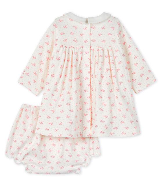 Baby girls' clothing - 2-piece set Marshmallow white / Gretel pink
