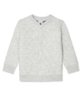 Baby Boys' Quilted Tube Knit Cardigan Beluga Chine