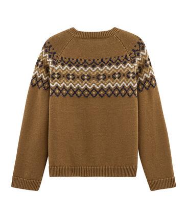 Girls' Pullover Brindille brown / Multico white