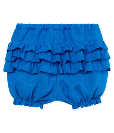 Baby girls' linen bloomers Riyadh blue