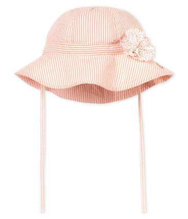 Baby girls' striped hat
