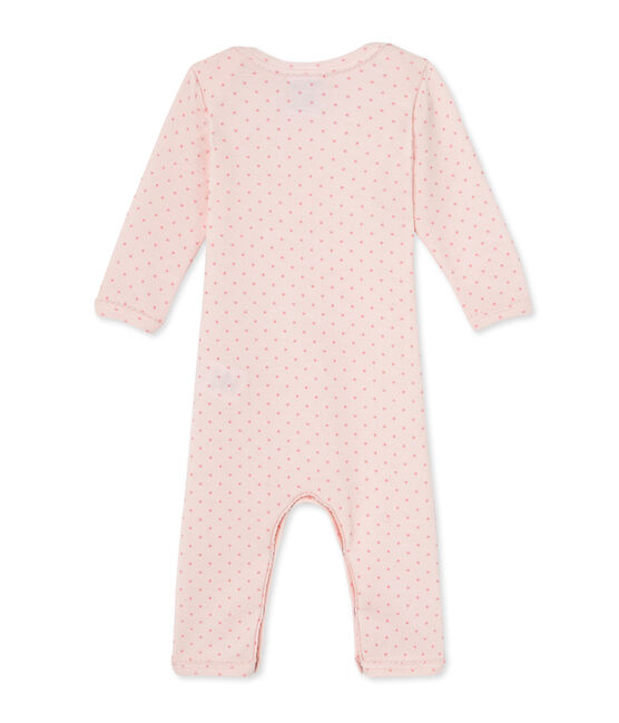 Baby girls' short wool and cotton coverall Vienne pink / Gretel pink