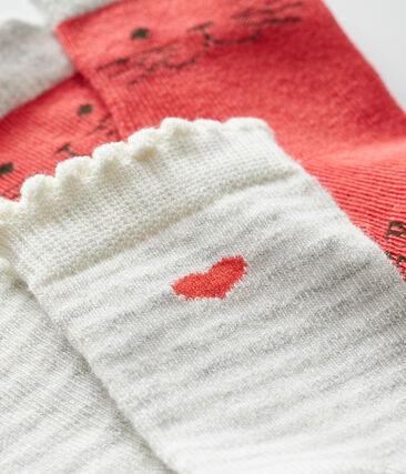 Baby Girls' Socks - 2-Piece Set Signal red