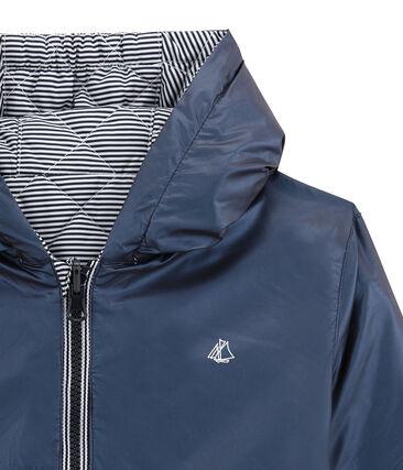 Child's warm, reversible windbreaker jacket Smoking blue