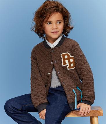 Boys' Baseball Coat Cocoa brown / City:city grey
