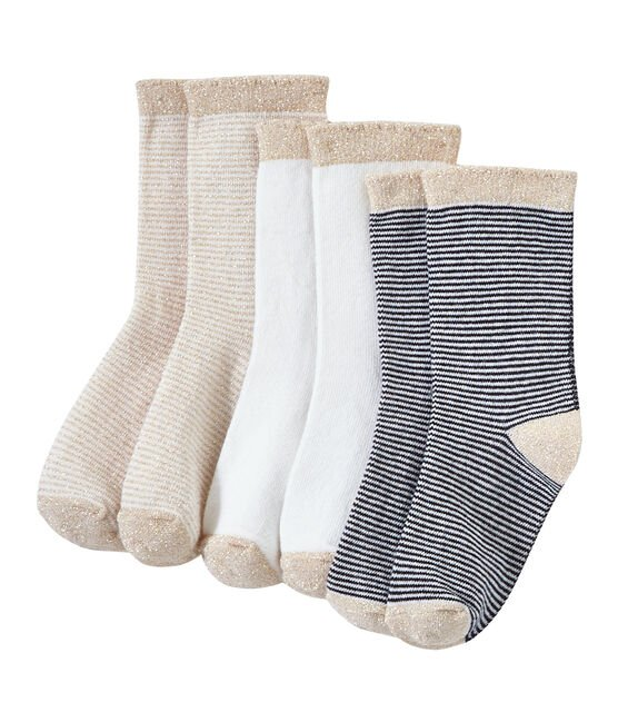 Set of 3 pairs of girl's socks . set
