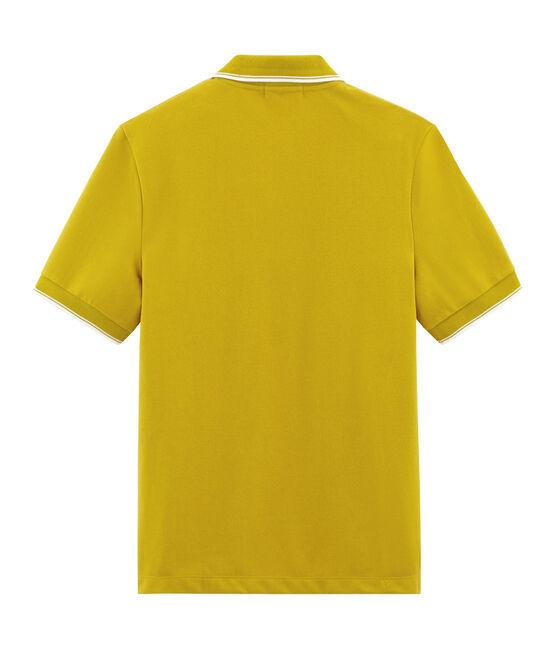 Men's short-sleeved polo shirt Bamboo yellow