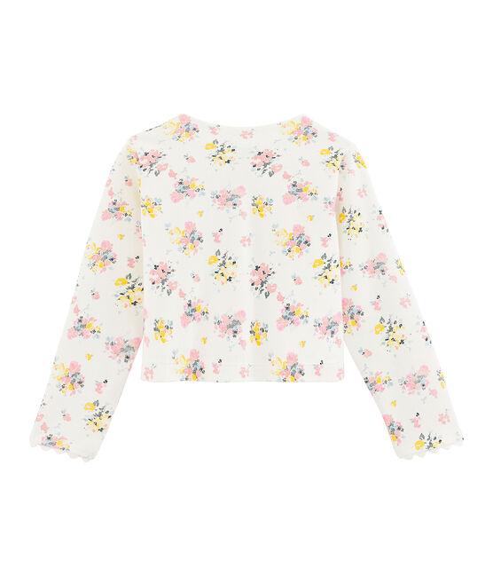 Girls' Cardigan Marshmallow white / Multico white